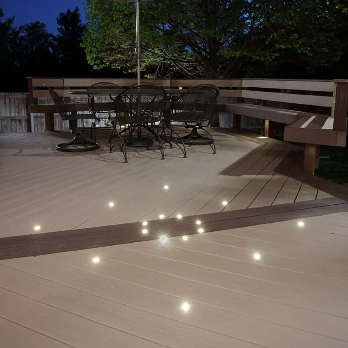 outdoor recessed deck dot led light kit dekor lighting