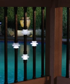 Illuminated Casey collar balusters