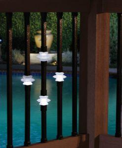 Illuminated Casey collar balusters