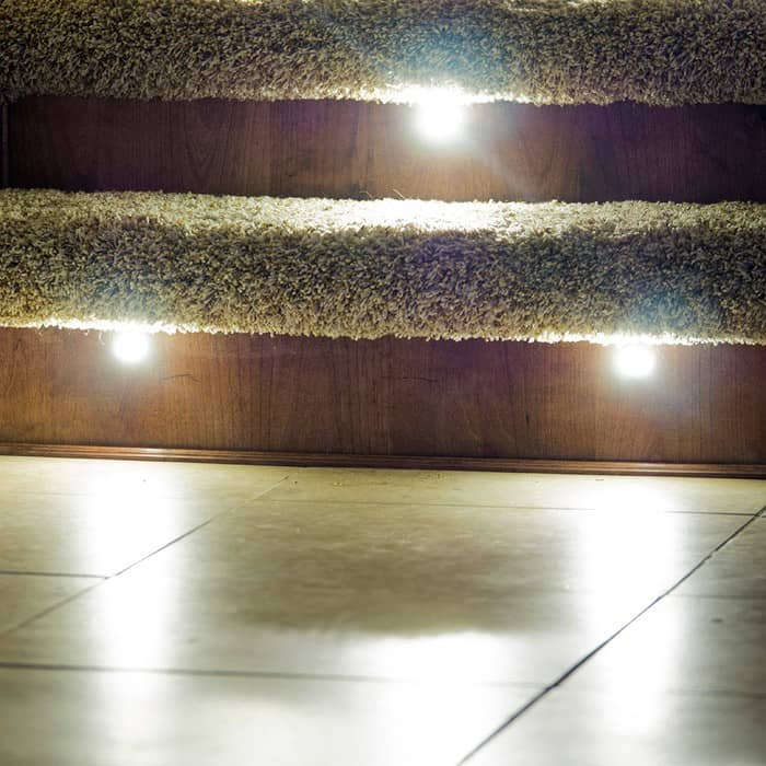 LED Recessed Stair Light 4 Pack - Indoor / Outdoor - DEKOR® Lighting