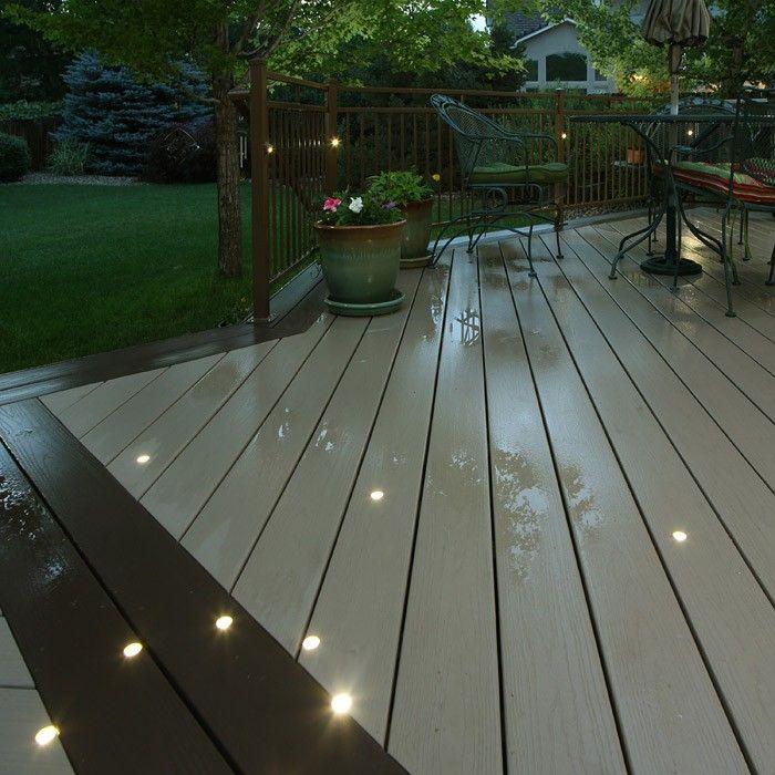 Outdoor recessed dek dot led light kit dekor lighting for Garden decking lights uk