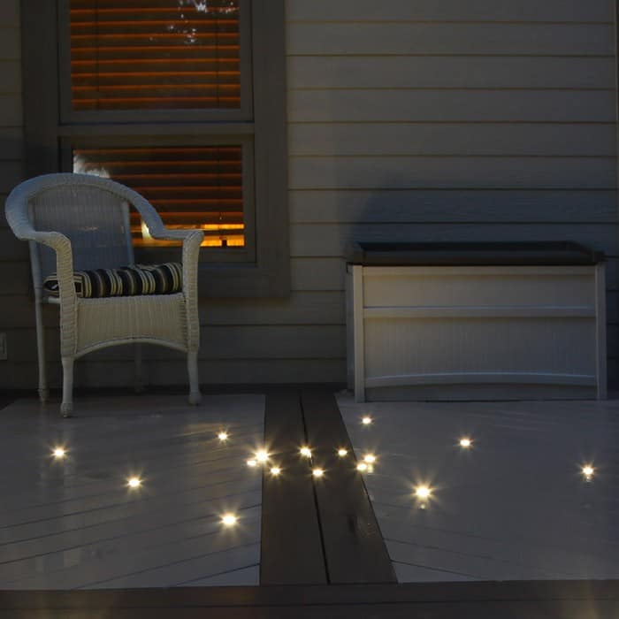 Outdoor recessed dek dot led light kit dekor lighting for Balcony lights