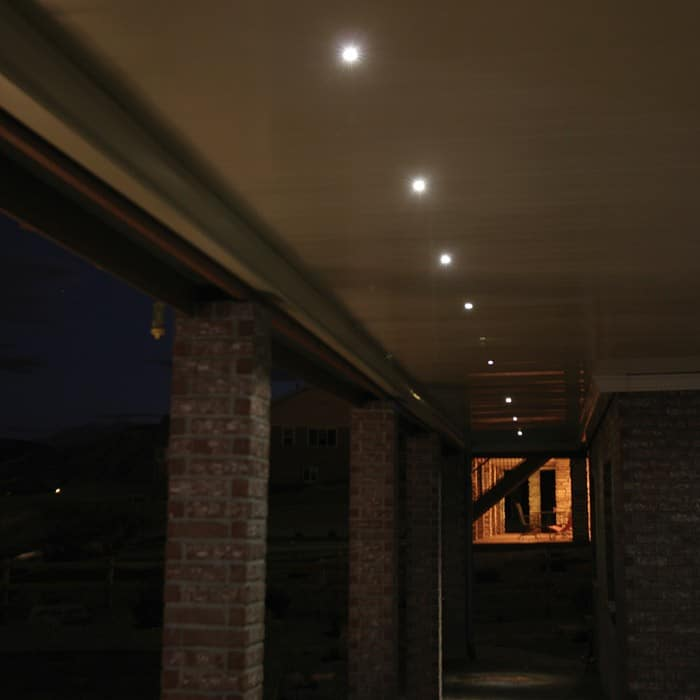 Led recessed down light 4 pack indoor outdoor dekor lighting - Exterior led lights for homes ...