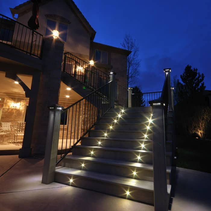 Led Light For Outdoor Outdoor led recessed stair light kit 8 pack dekor lighting color swatches workwithnaturefo
