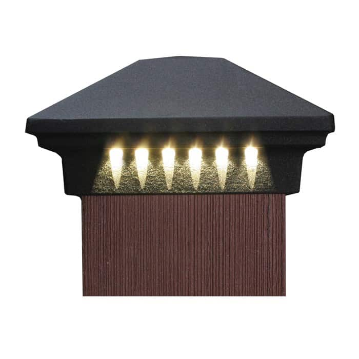 Pyramid post cap dekor lighting mozeypictures Image collections