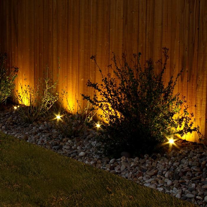 Puck led landscape light dekor lighting for Landscape up lighting led