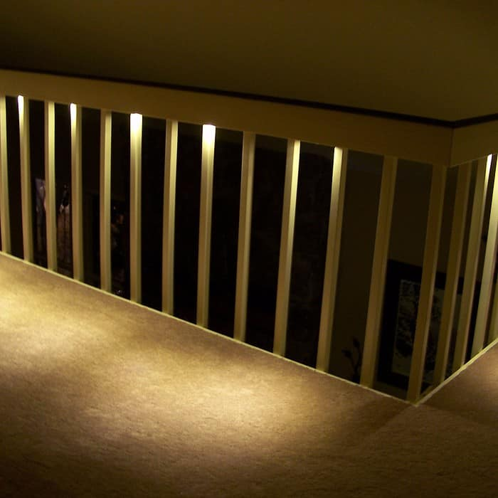 Lighting On Stairs: LED Recessed Stair Light 4 Pack
