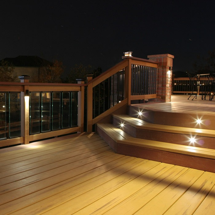 Outdoor LED Recessed Stair Light Kit 8 Pack DEKOR Lighting