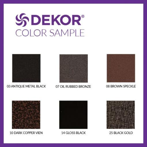 DEKOR Lighting color swatches