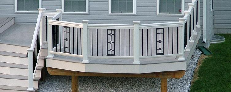 Aluminum deck and balcony panels dekor lighting