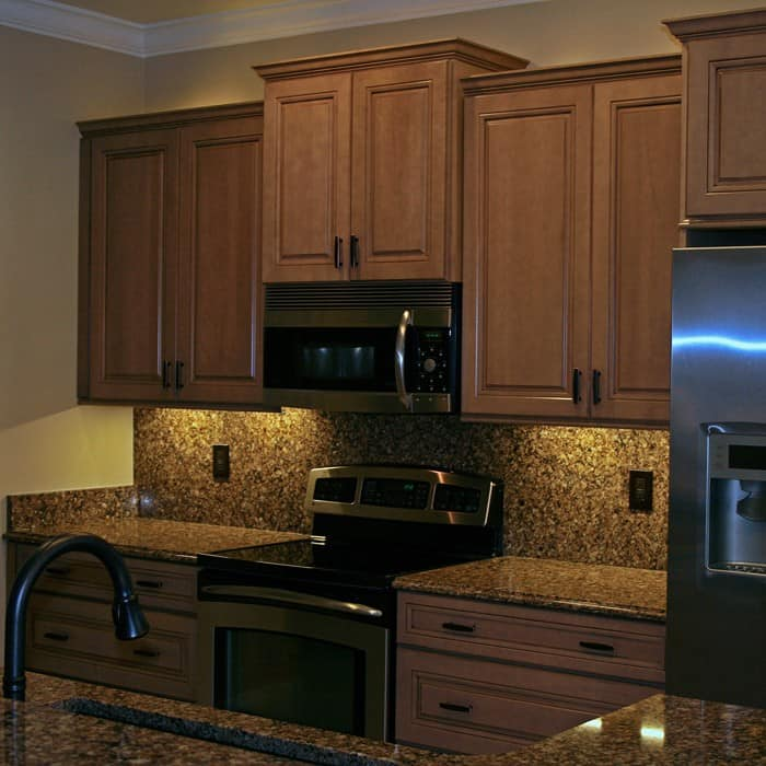 "Illuminating Kitchen Lighting: 12"" LED Under Cabinet Light Bar Kit White"