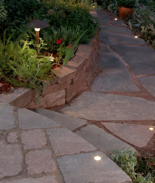 paver dot walkway lighting
