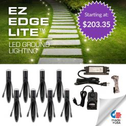 EZ EDGE LITE™ Kit -Outdoor LED Lights for Landscape or Hardscape Edges