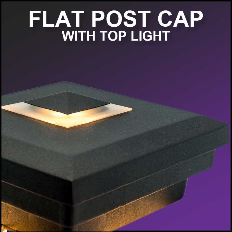 flat post cap top light