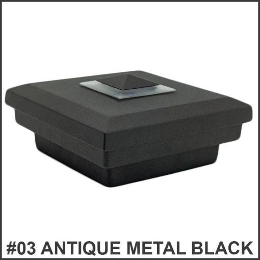 Flat-Post-Caps-with-Top-Light-Dekor-Lighting-Antique-Metal-Black
