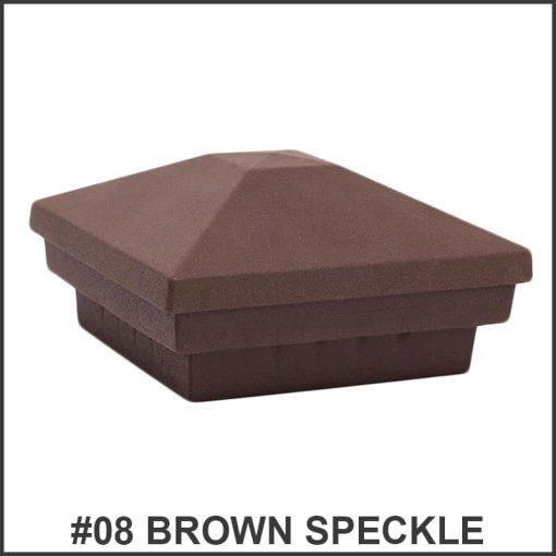 Pyramid-Post-Caps-Dekor-Lighting-Brown-Speckle