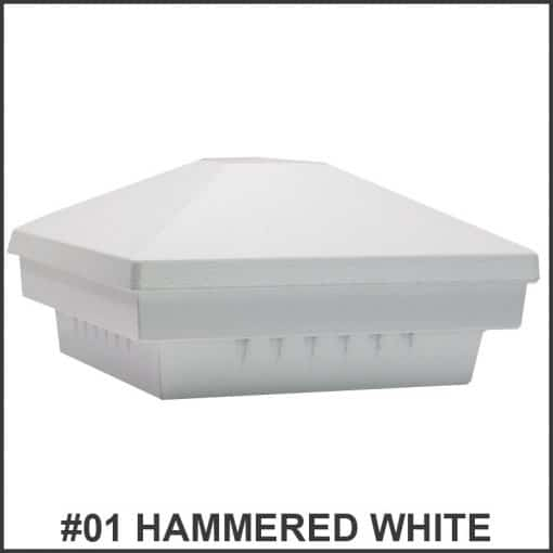 Pyramid-Post-Caps-Dekor-Lighting-hammered-white