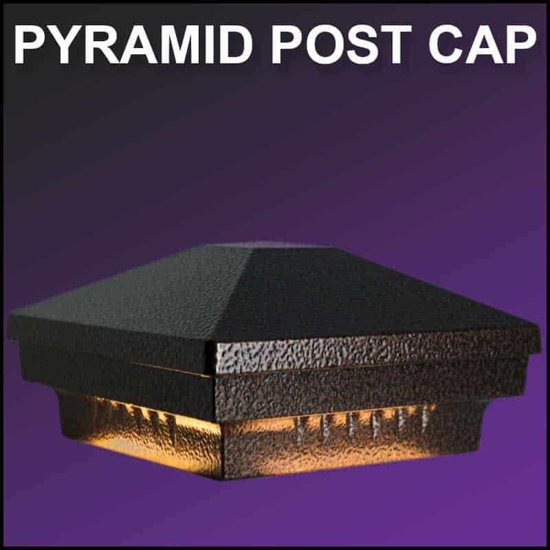 Durable and beautiful led post caps by dekor lighting pyramid led post cap by dekor aloadofball Choice Image