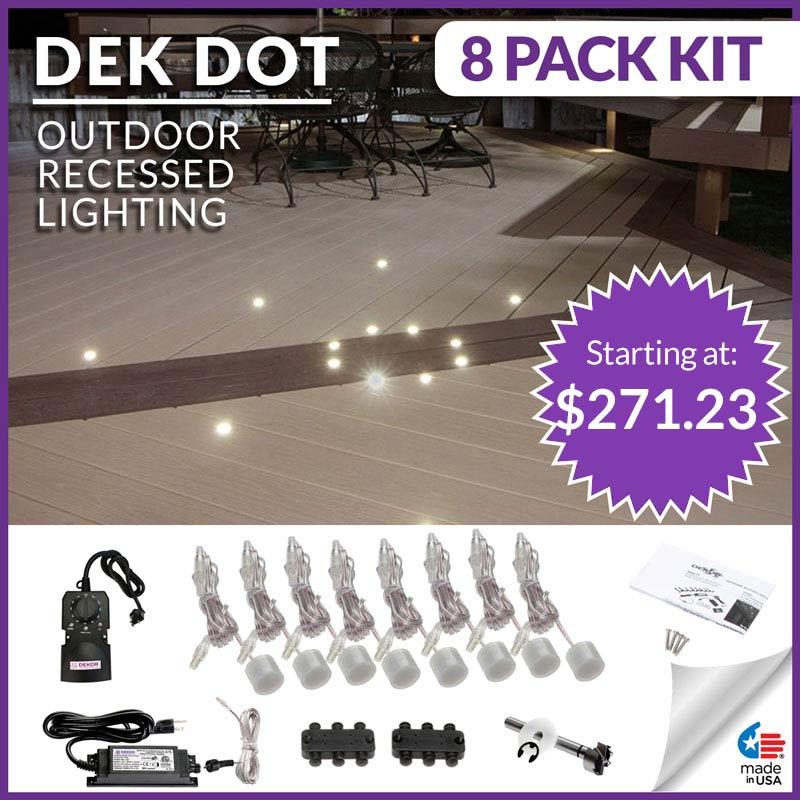 deck lighting by dekor deck lighting kits for contractors and diyers
