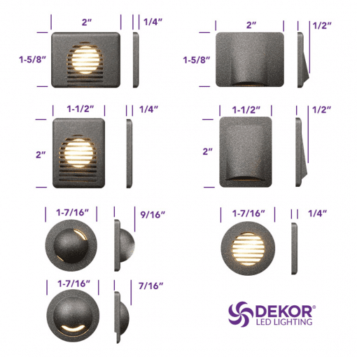 Dekor Faceplate Sizes