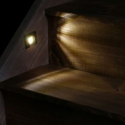 Recessed stair lights