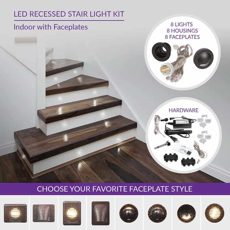 Indoor Led Recessed Stair Light Kit