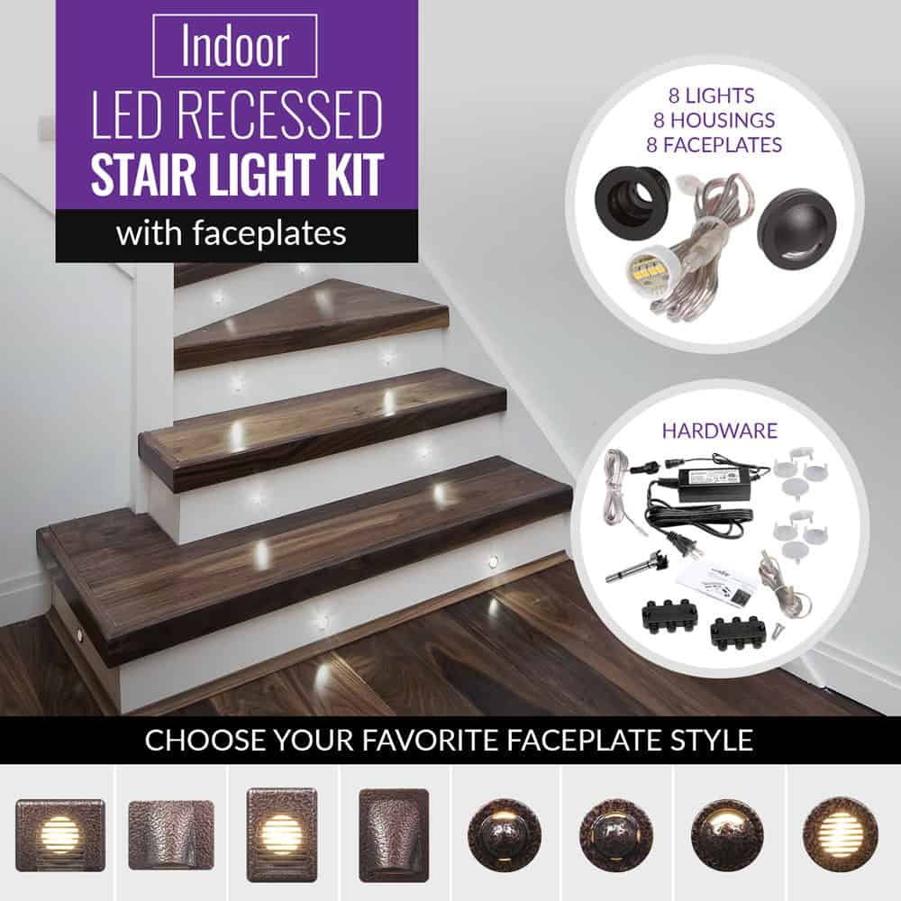 Indoor Recessed Stair Light