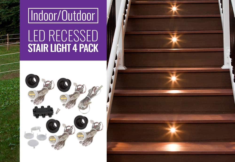Indoor Outdoor Recessed Stair Lights
