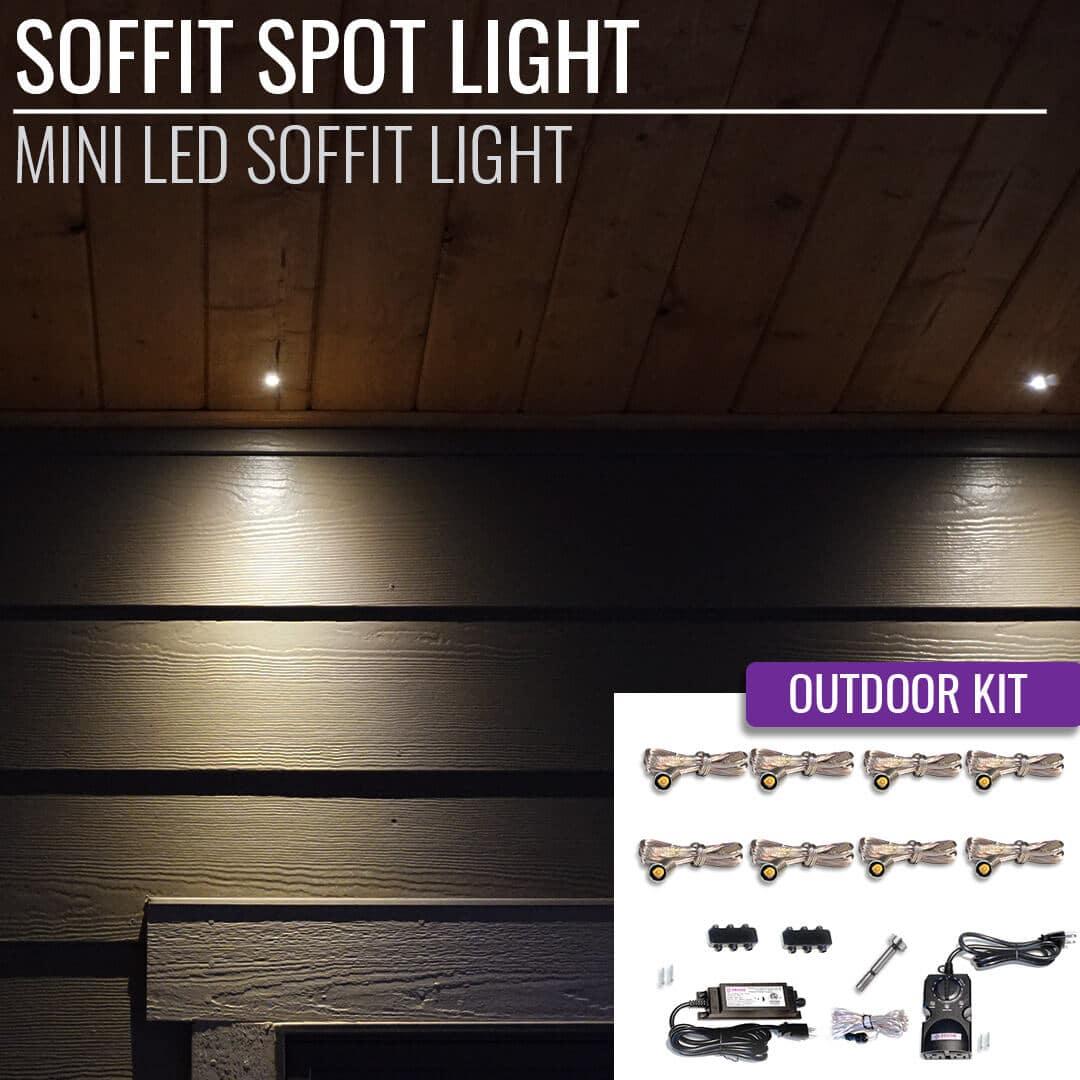 Astonishing Led Soffit Spot Light Outdoor Kit Dekor Lighting Wiring 101 Capemaxxcnl