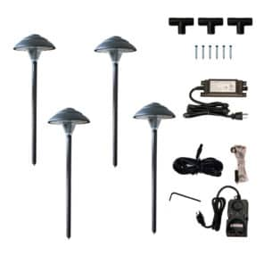 Stepped Mushroom Path Light Kit
