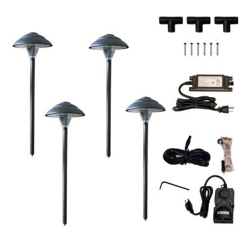 Stepped Mushroom Path Light Kit
