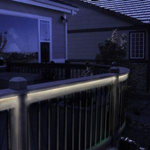 LED lighting under deck railing