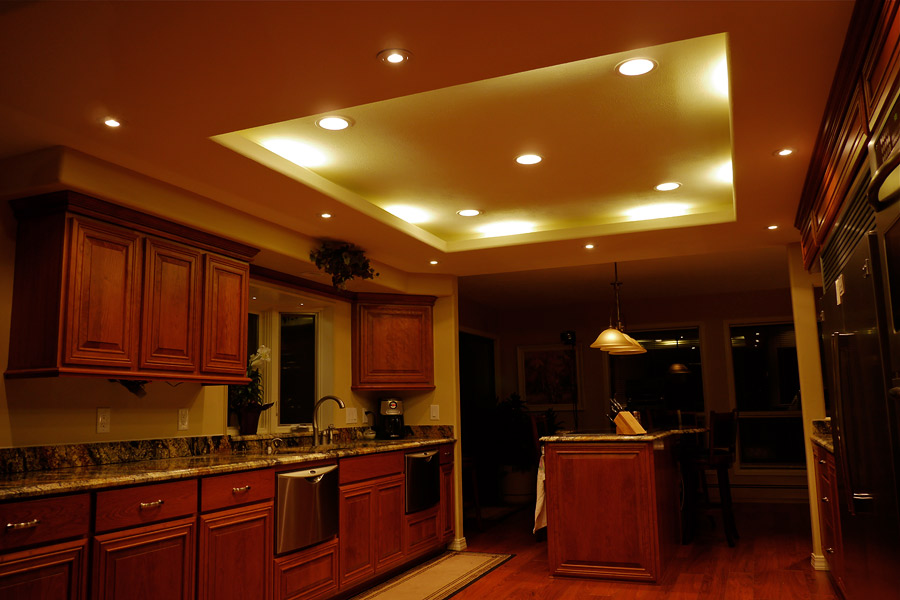 Kitchen U0026 Cabinet Lighting Gallery. Kitchen Lighting: Dimmable LED ...