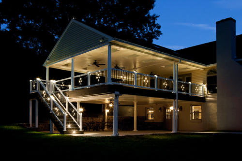 From striking to spectacular: Our signature deck lighting products: stair lights, post caps and Illuminations balusters make the difference!