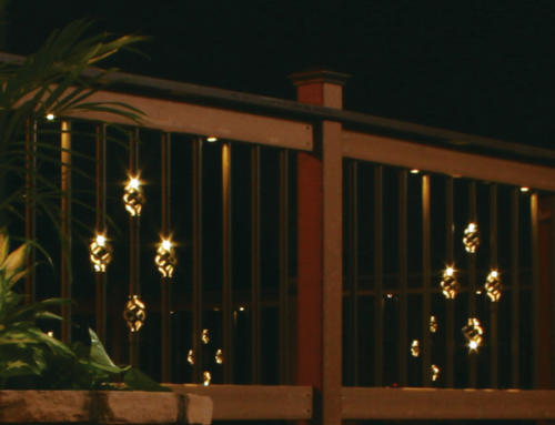 Illuminations balusters: premium quality aluminum balusters with illuminated baskets