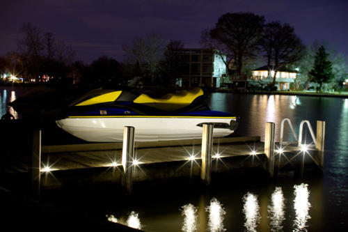 DEK DOTS as dock lights are fully waterproof and submersible