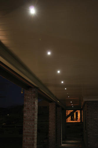LED recessed down lights close up