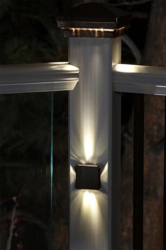 DEKOR's new deck light, the Elite Post Lamp