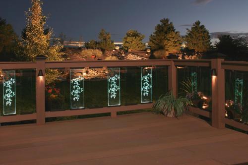 Beautiful glass panels light the night!