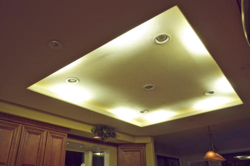DEKOR™ LED Under Cabinet lights used as LED Cove Lighting