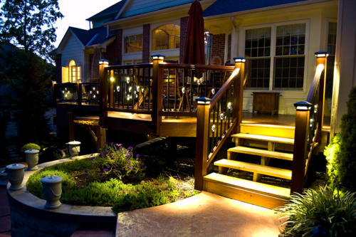 LED deck lighting from DEKOR for a warm welcoming glow