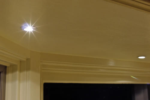 LED Recessed Down Light - mounted in bay window
