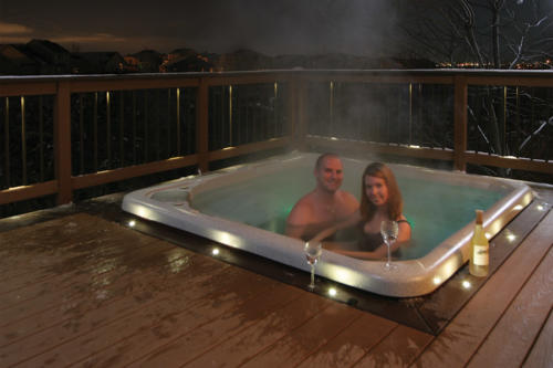 Use our versatile LED recessed lights around a hot tub or under hand rail