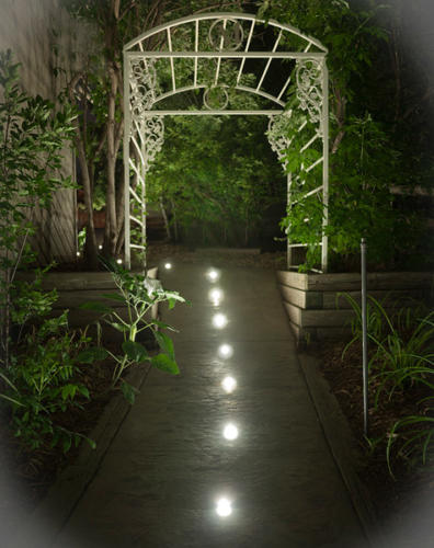LED Landscape Lighting: DEKOR Dek Dots light, walkways, pathways, and patios