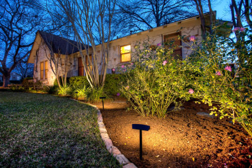 Radiance Landscape Lights illuminate front garden